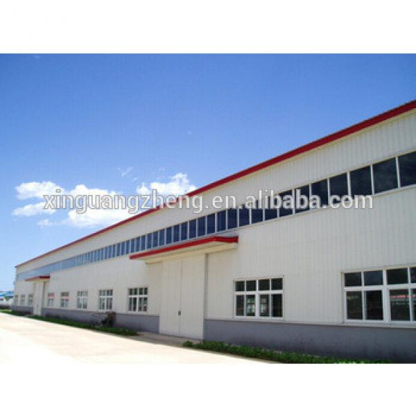 Prefabricated Steel Structure Workshop with Crane #1 image