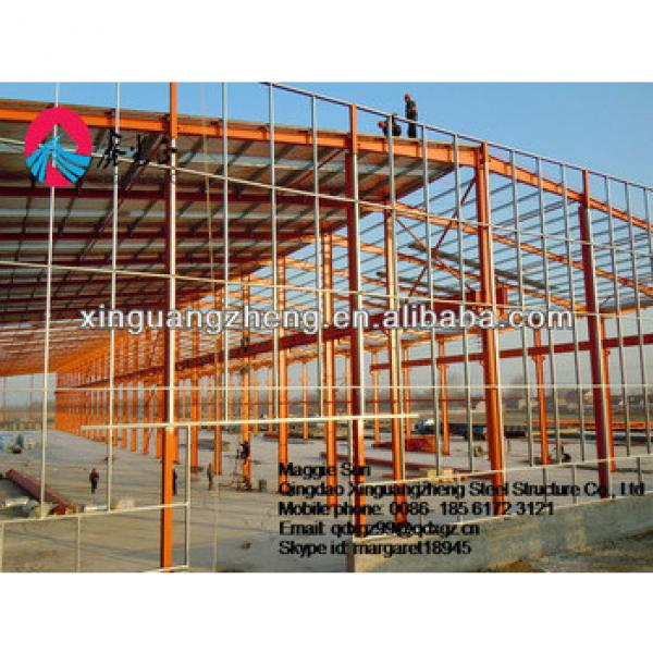 Steel frame structure building prefabricated warehouse kit #1 image