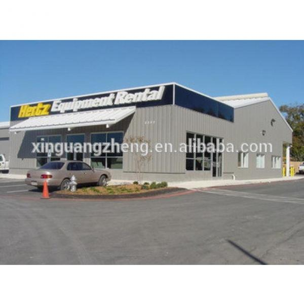 insulated prefab engineered steel frame metal building #1 image