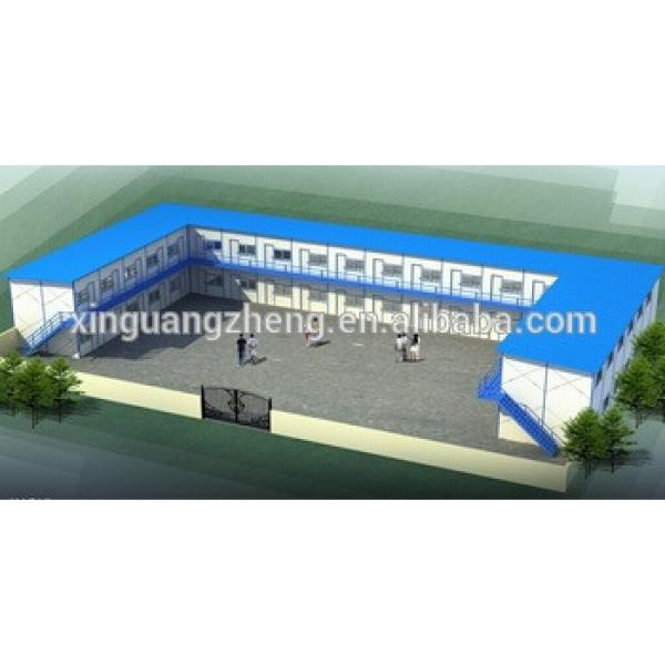 china cn light prefabricated two story steel structure warehouse #1 image