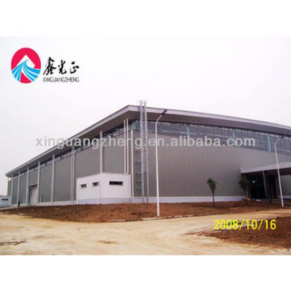 Prefab large span Light steel structure agriculture warehouse metal building industrial shed #1 image