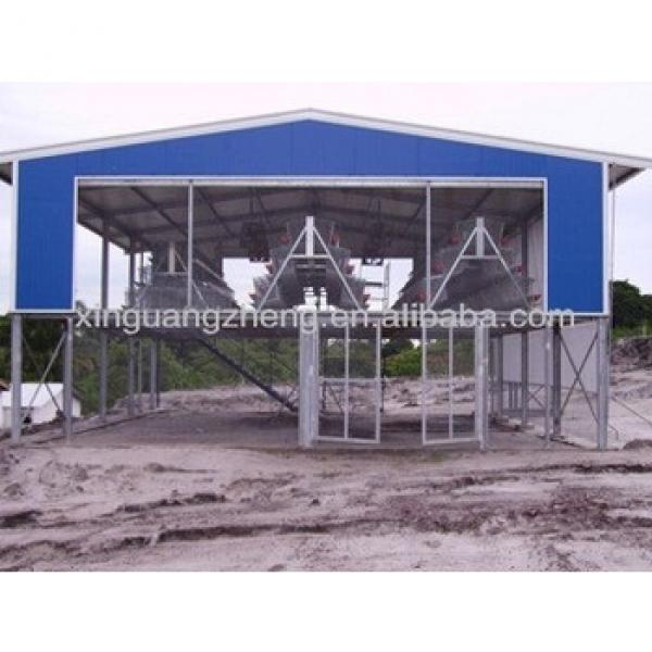 Light prefabricated steel structure farm chicken shed warehouse for sale /carport/car garage /steel structure building project #1 image