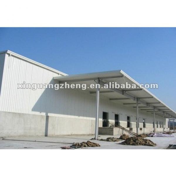 Cheap prefab light steel structure foam sandwich panel warehouse/carport/car garage /steel structure building project #1 image