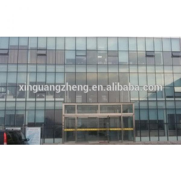 prefab steel structure office building with glass curtain wall #1 image