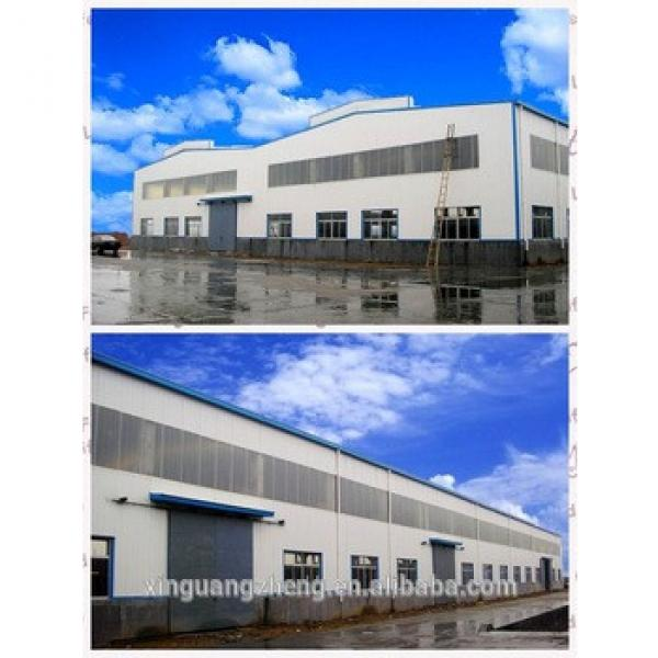 Pre-engineering double slope prefabricated steel structural warehouse building #1 image