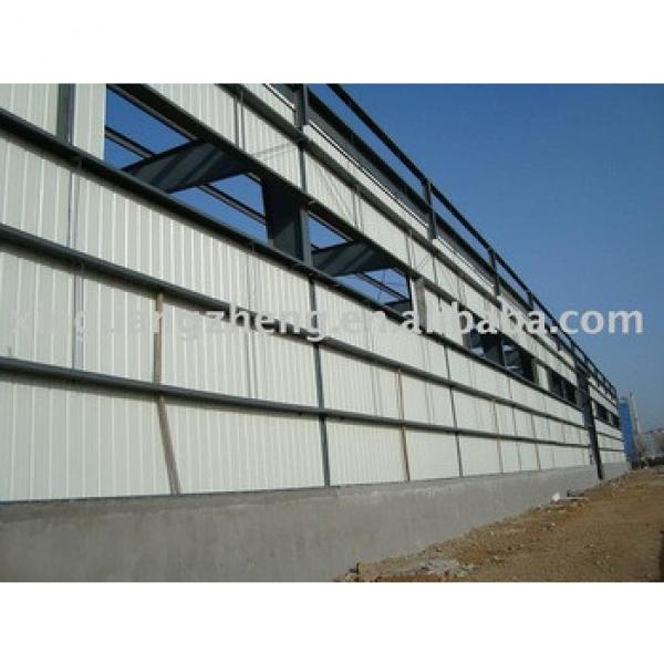 prefabricated large span cheap steel frame warehouse #1 image