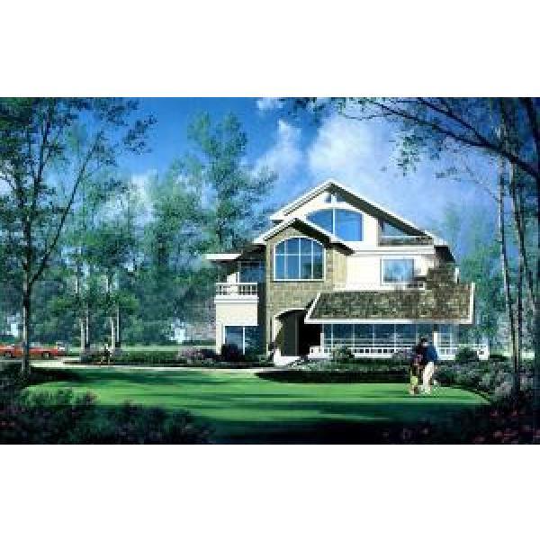 White Color Modern Economic Prefab Steel House Light Gauge Steel Structure #1 image