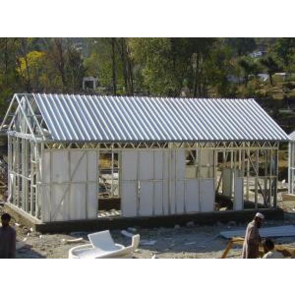 Yellow Modular Homes / Light Steel Frame Prefab House Kits For Living #1 image