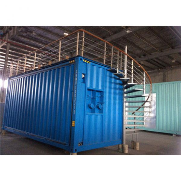 Customized shipping container house with stair and upgrade platform use for exhibition #1 image