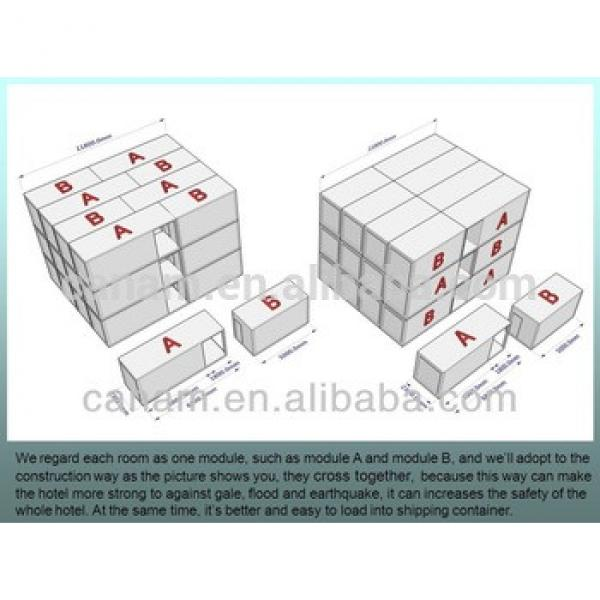 effective recycled cafe low price fabricated folding container house #1 image