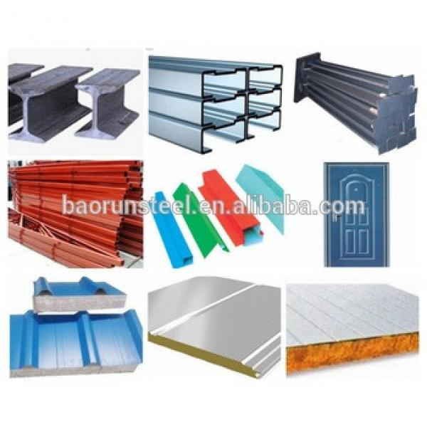 structural steel C/Z type channel,large-span steel structure building,steel structure warehouse #1 image
