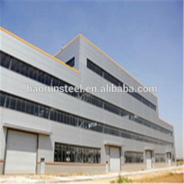 Steel Galvanized Prefab Warehouse with UP/EPS Sandwiched Panel Wall #1 image