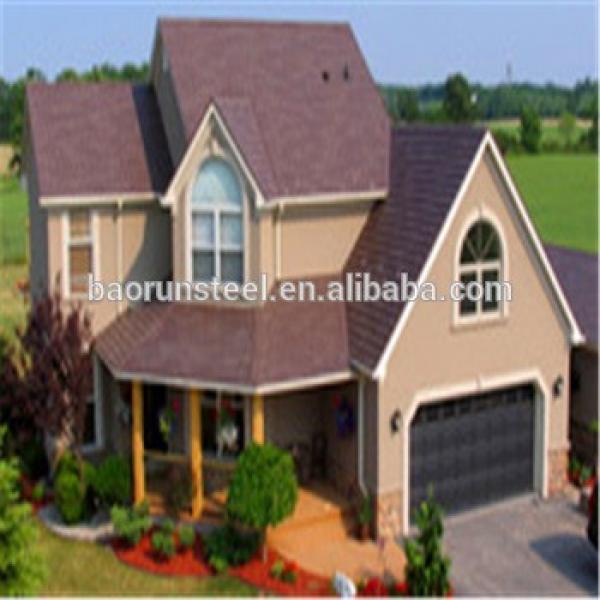 Prefabricated modern light steel structure villa /light steel frame house #1 image