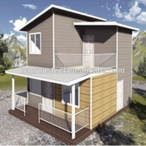 Prefabricated steel structure villa with decorative interior & exterior wall panels #1 image
