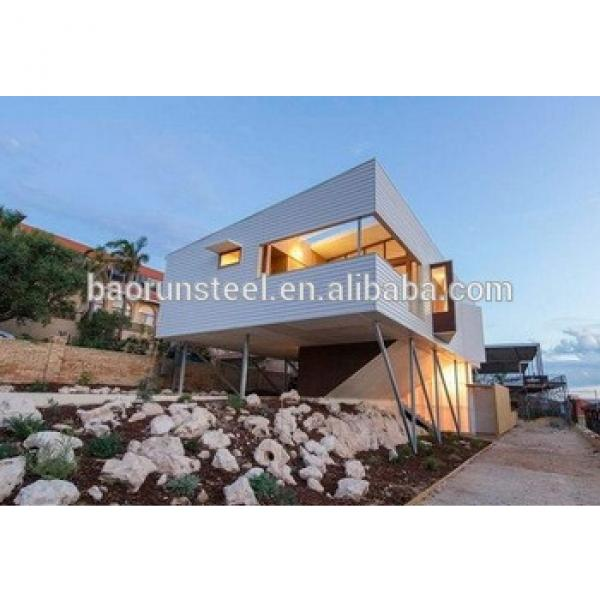 easy built, beautiful type and high quality light steel structure container house #1 image