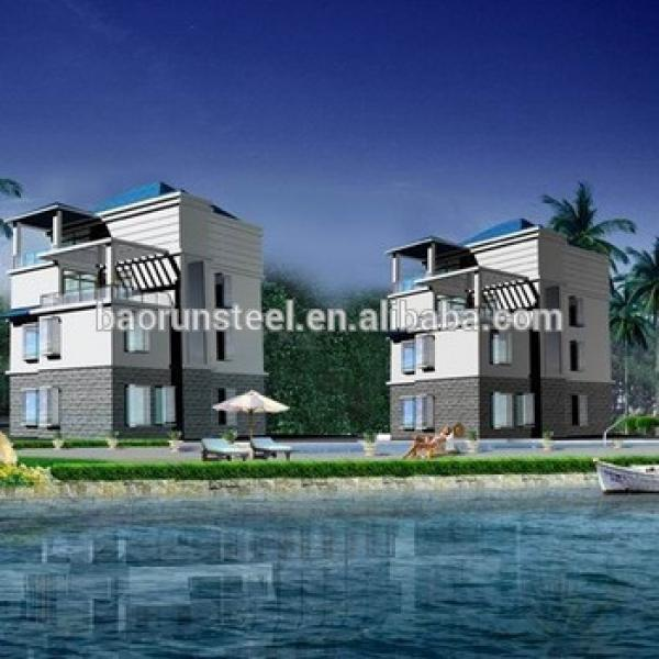 Simple design resist-cold construction prefabricated homes,2015 hot sale good quality prebuilt villa house, prefab villa HG-V53 #1 image