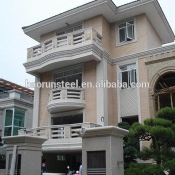 china prefabricated steel frame house prefab villa in village #1 image