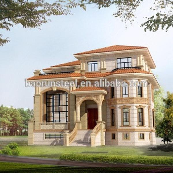 China Low Price Steel Structure house, Light Steel luxury hotel, Prefabricated Villa #1 image