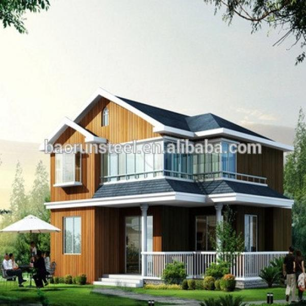 China Supplier Luxury Design Cold Formed Steel Small Steel Frame House #1 image