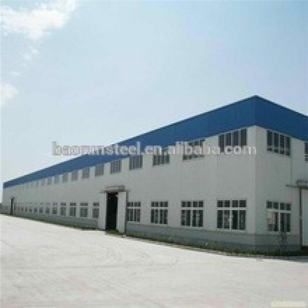 Warehouse demountable heavy steel structure workshop prefab #1 image