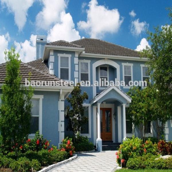 baorun provide Supplier Luxurious Modern Design Light Gauge Steel Frame Prefab House Villa #1 image