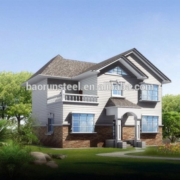 China baorun provide good model prefab house villa,prefab kit homes #1 image