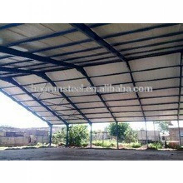 Steel frame and PU sandwich panel fabrication prefabricated steel structure warehouse #1 image