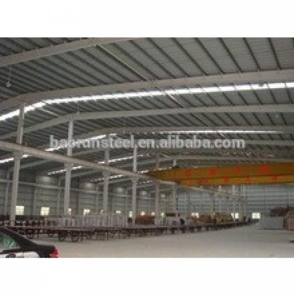 Canada cutomer's high quality large span portable steel structure workshop #1 image