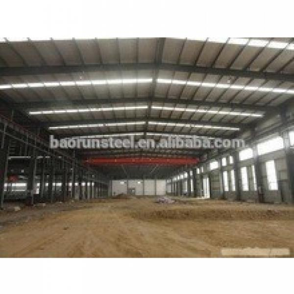 Q345 prefabricated large span industrial steel structure warehouse for sale in Algeria #1 image