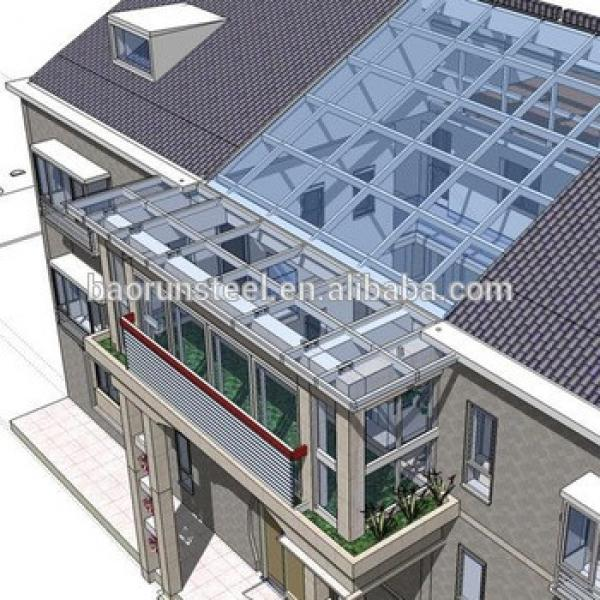 Fast Construction Light Steel Structure Prefabricated Wooden House villa #1 image