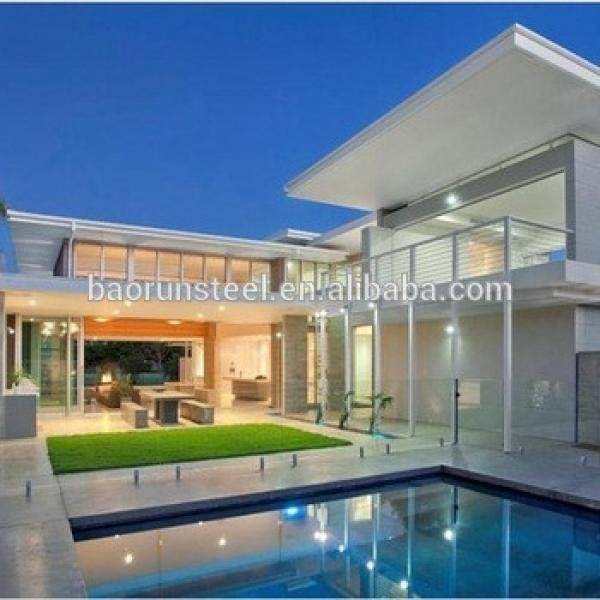 Customized light steel villa prefab house used for hotel, house and villa #1 image
