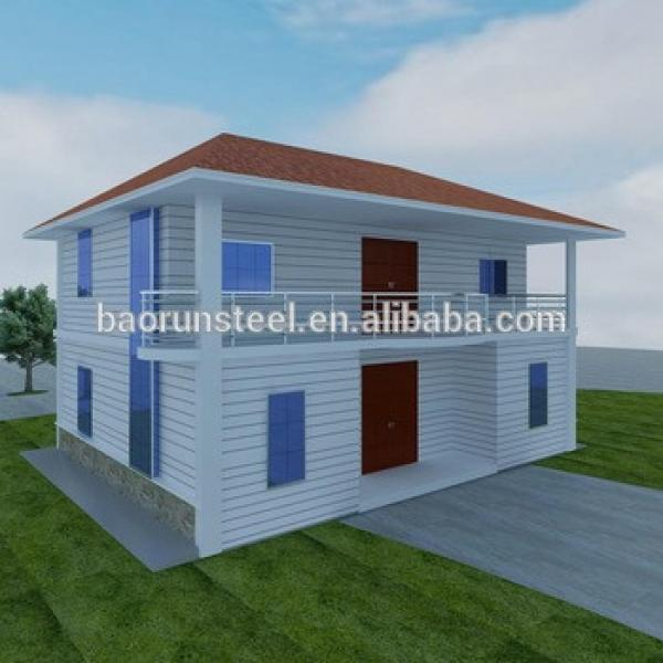 2015 new design cheap slope roof prefab house for sale #1 image