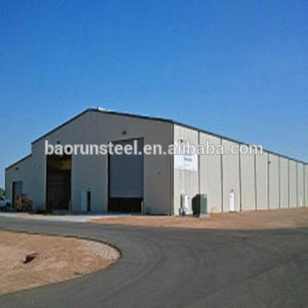 Heat insualted steel structure warehouse with large size column in Chile #1 image