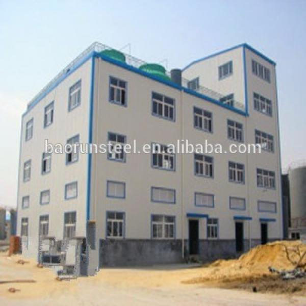 Prefabricated steel structure warehouse / garage with sandwich panel for sale #1 image