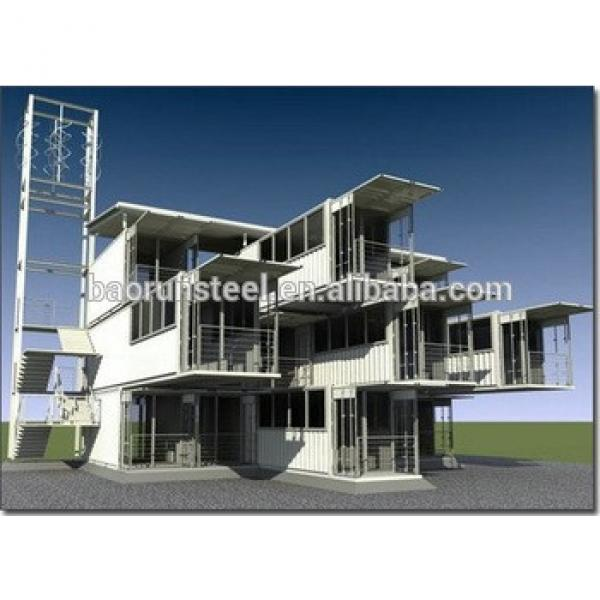 2015 latest design steel frame prefab shipping container homes/container house for sale #1 image