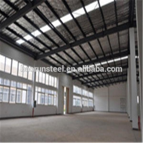 Good insulation and light color warehouse steel frame structure/steel frame/poutry shed/garage #1 image