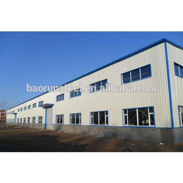 sandwich panel wall prefab steel structure warehouse drawings with CE certificated #1 image