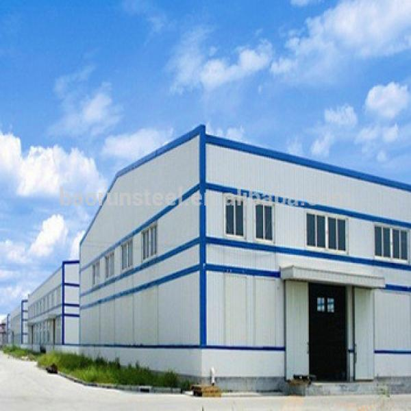 Steel structure workshop galvanized prefabricated warehouse #1 image