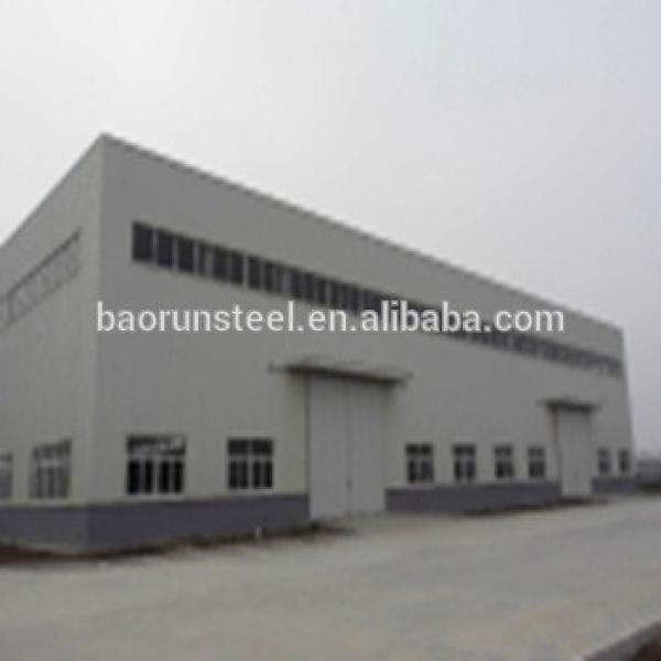 High Quality Sandwich Panel Door Prefabricated Structural Building Steel Workshop Shed #1 image