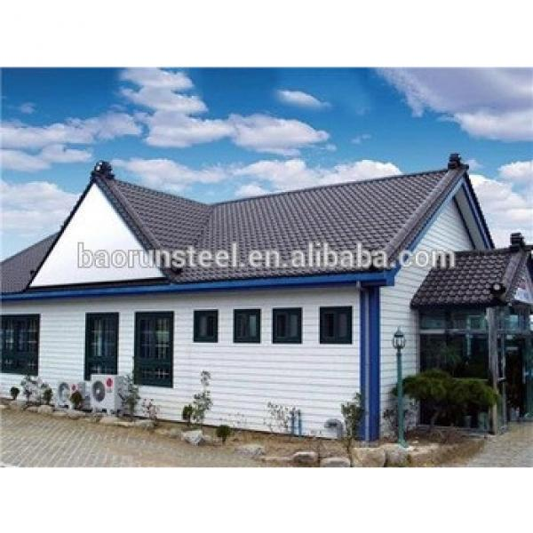 2015 new prefabricated luxury style residential houses and villas steel structure house #1 image