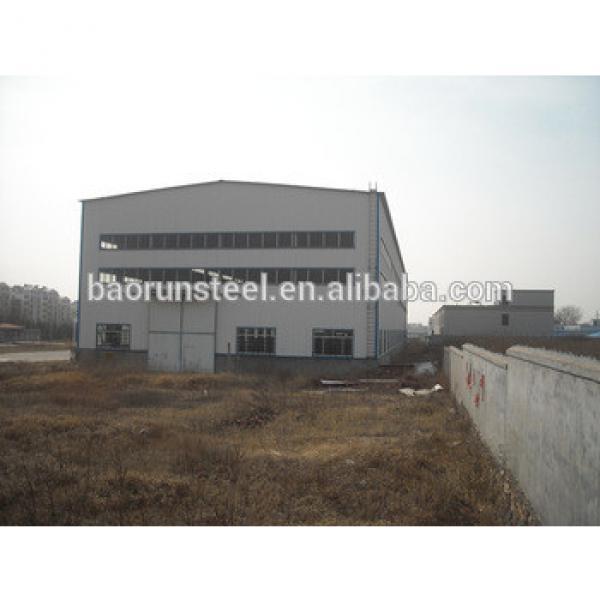 Corrugated light steel garage prefabricated workshop steel structure workshop for construction #1 image