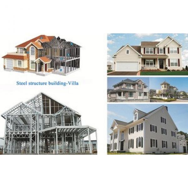 low cost stronger and durable light steel structure prefab villa and modular house #1 image