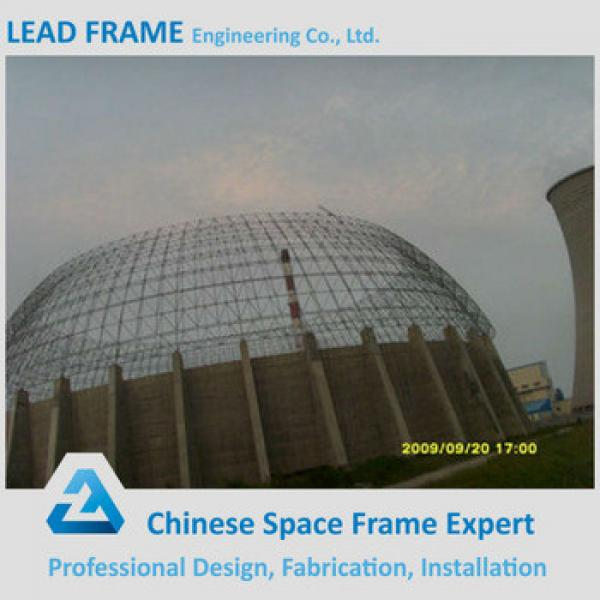 light type ball joint space frame prefab large geodesic dome for coal storage #1 image