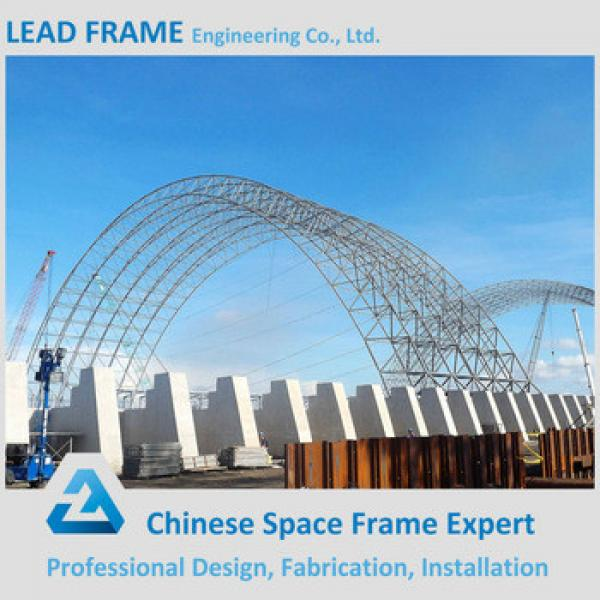 Pre engineering Curved Roof Steel Structure Shed With Sandwich Panel of Coal Storage #1 image