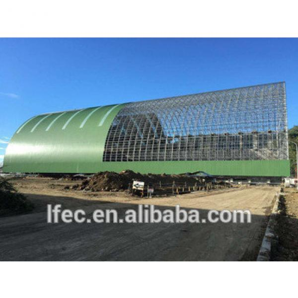 Hot Dip Galvanized Prefabricated Steel Space Frame Coal Storage Shed Barrel Cover #1 image