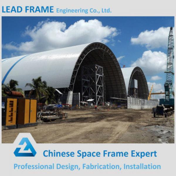 practical design prefabricated barrel coal storage steel structure shed design #1 image