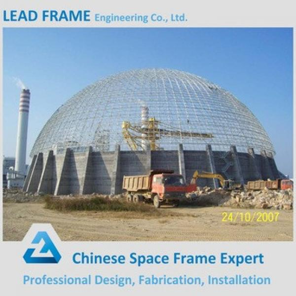 economical prefabricated dome coal storage shed steel structure building #1 image