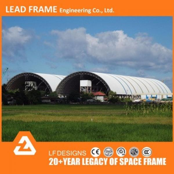 Light Weight And Durable Bolt Ball Arch Steel Space Frame coal stockpile cover #1 image