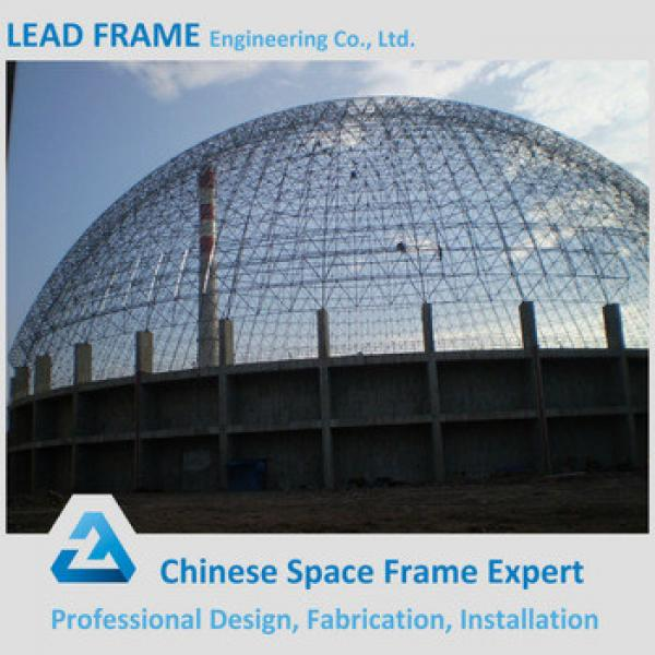 low cost steel space frame for limestone storage domes #1 image