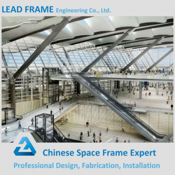 Hot-dip Galvanization Stainless Steel Structure Roof Truss For Railway Station #1 image
